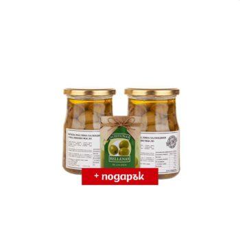 ПРОМО 2х Грилована зелена маслина Халкидики SIOURAS 520 г + Manzanilla с аншоа 120 г