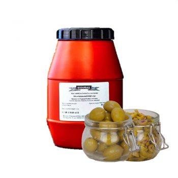 SIOURAS Зелени маслини Халкидики Large с костилка, обезкостена и нарязана – 2 кг